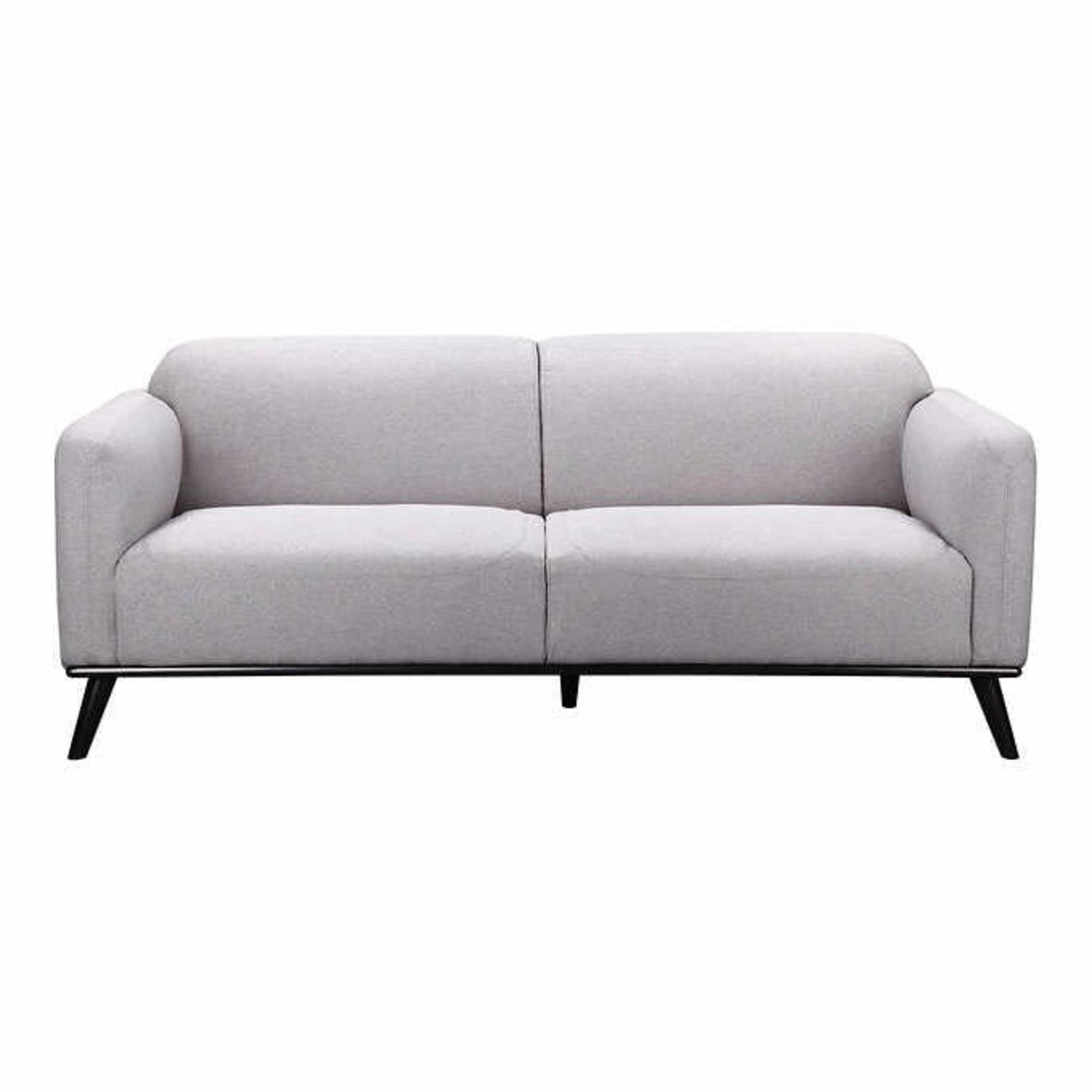 Luxe Modern Fabric Sofa Grey *Scuffs on legs