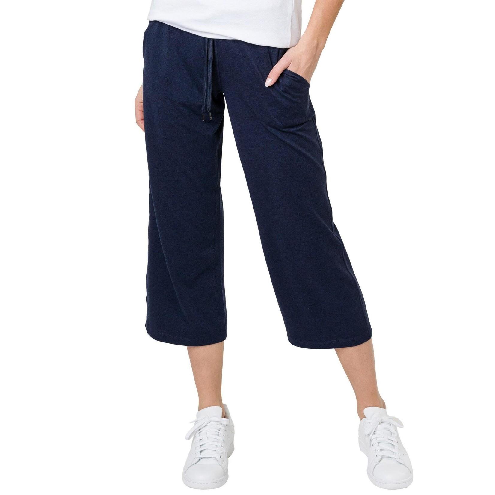 Tuff Athletics Ladies Gaucho Crop Pants-Navy-S