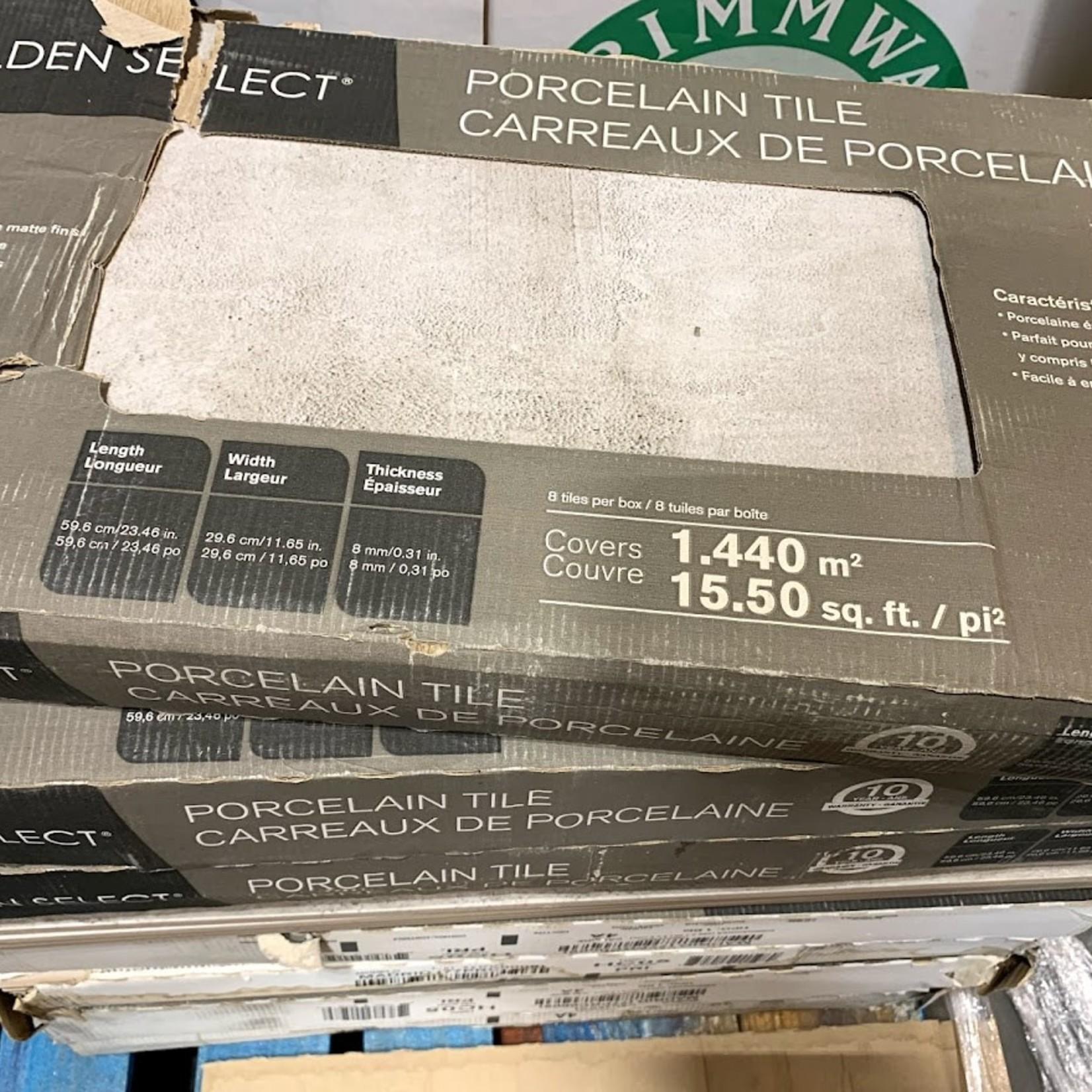 "Golden Select Porcelain Tile 23.46""x11.65""x0.31"" (Box of 8 Tiles) 15.50 Sq.Ft."