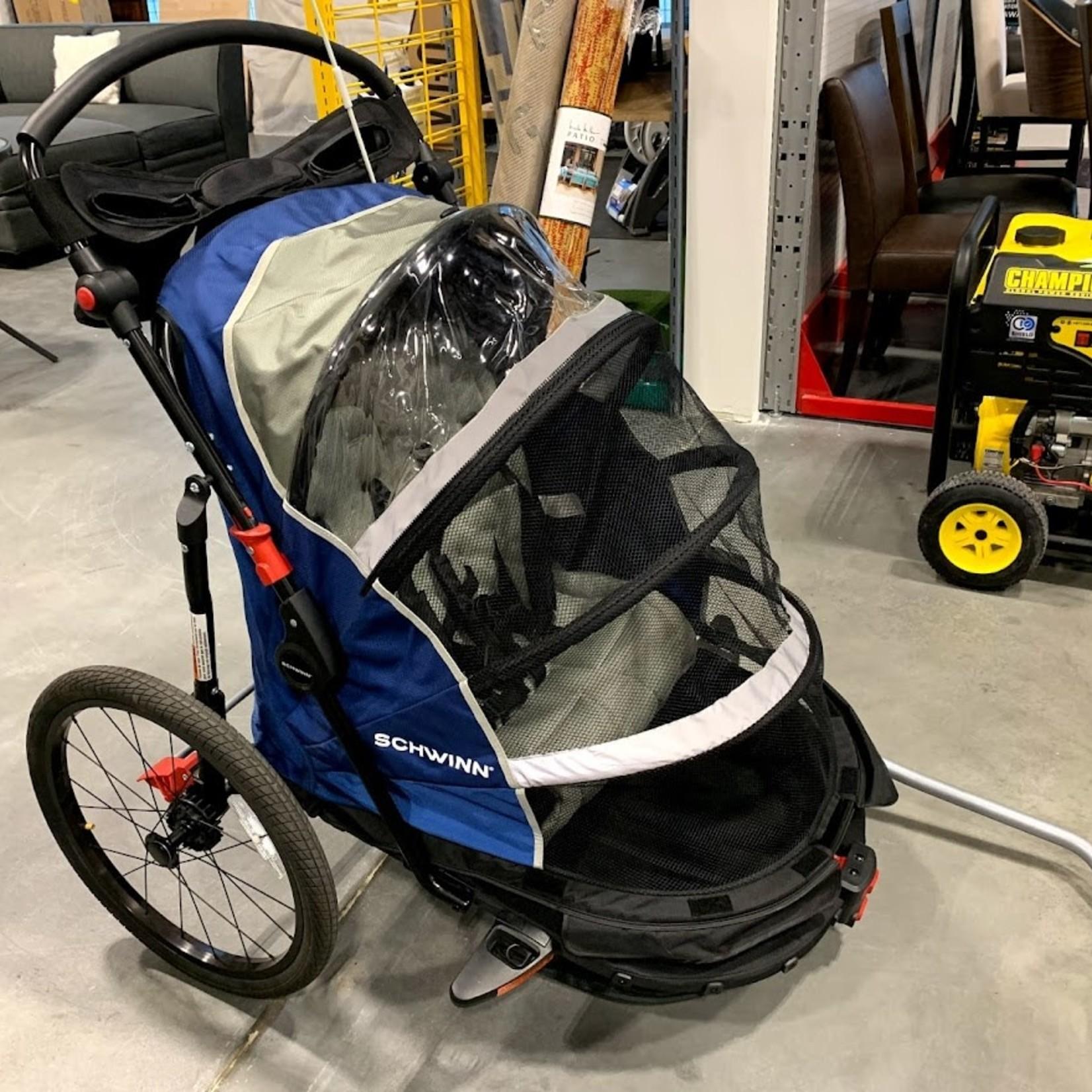 Schwinn Joyrider 2 Seat Bike Trailer *No box, like new, missing front wheel