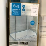 """Ove Canberra 60 Shower Door and Base Kit (60""""x32""""x81.4"""") *Missing Mounting Strips for Base"""