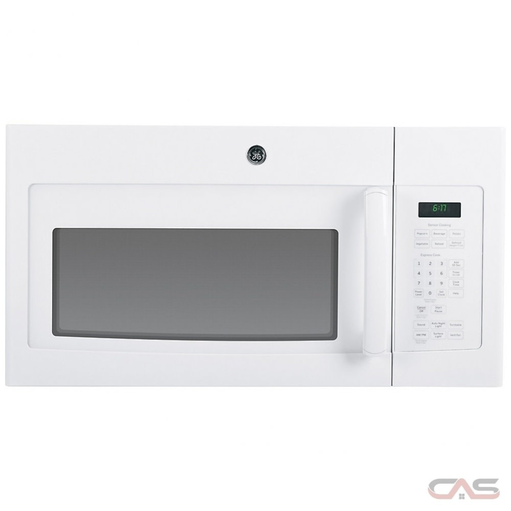 GE Over the Range Microwave, 30 inch Exterior Width, 1000W Watts, 1.6 cu. ft. WHITE JVM1630WFC
