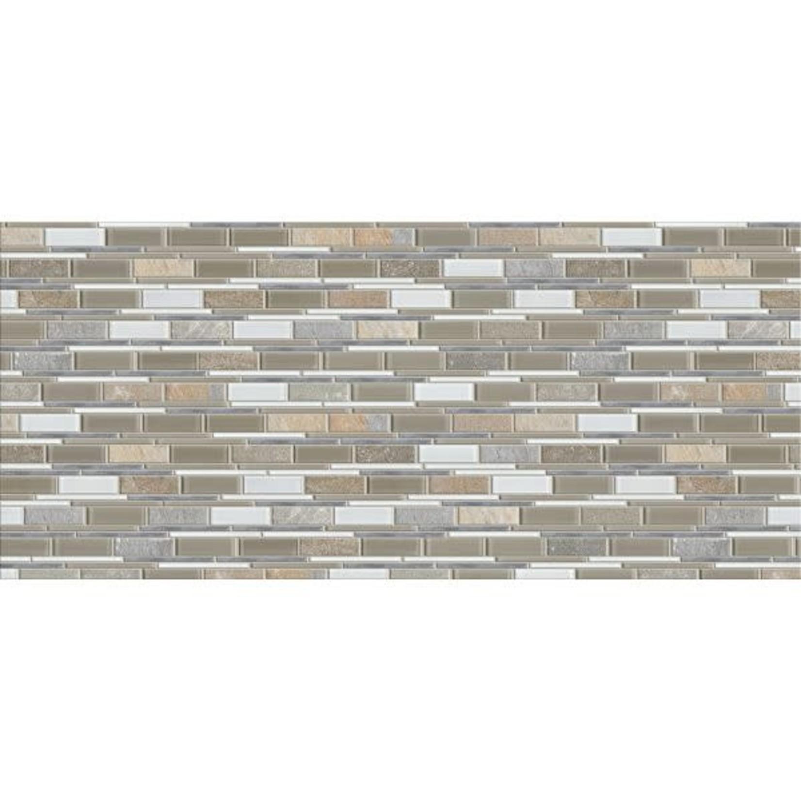 Golden Select Glass, Stone and Aluminum Mosaic Wall Tiles -Colorado 38.9x30.9cm 5 Tiles/box