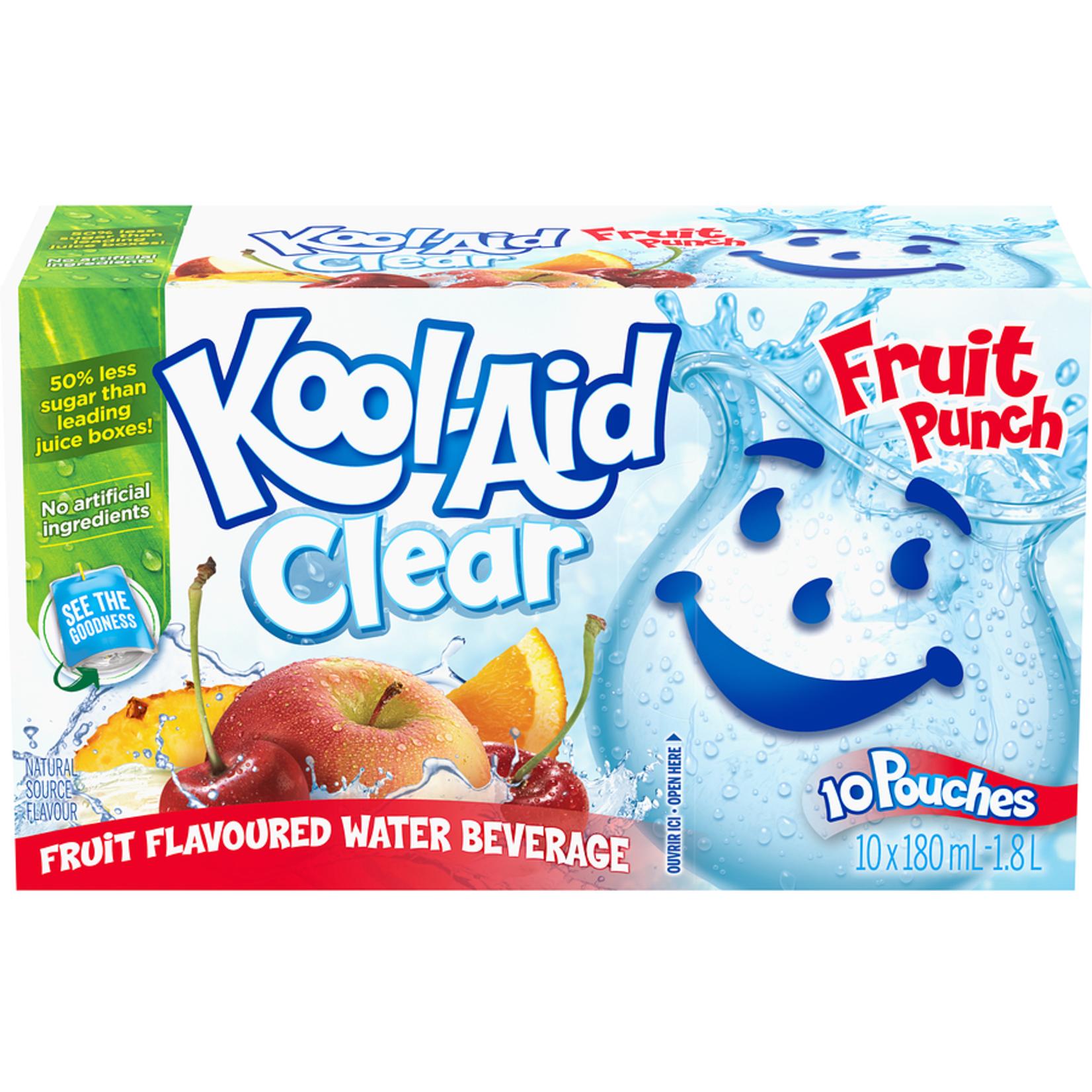 Kool-Aid Clear Fruit Flavored 10x180ml