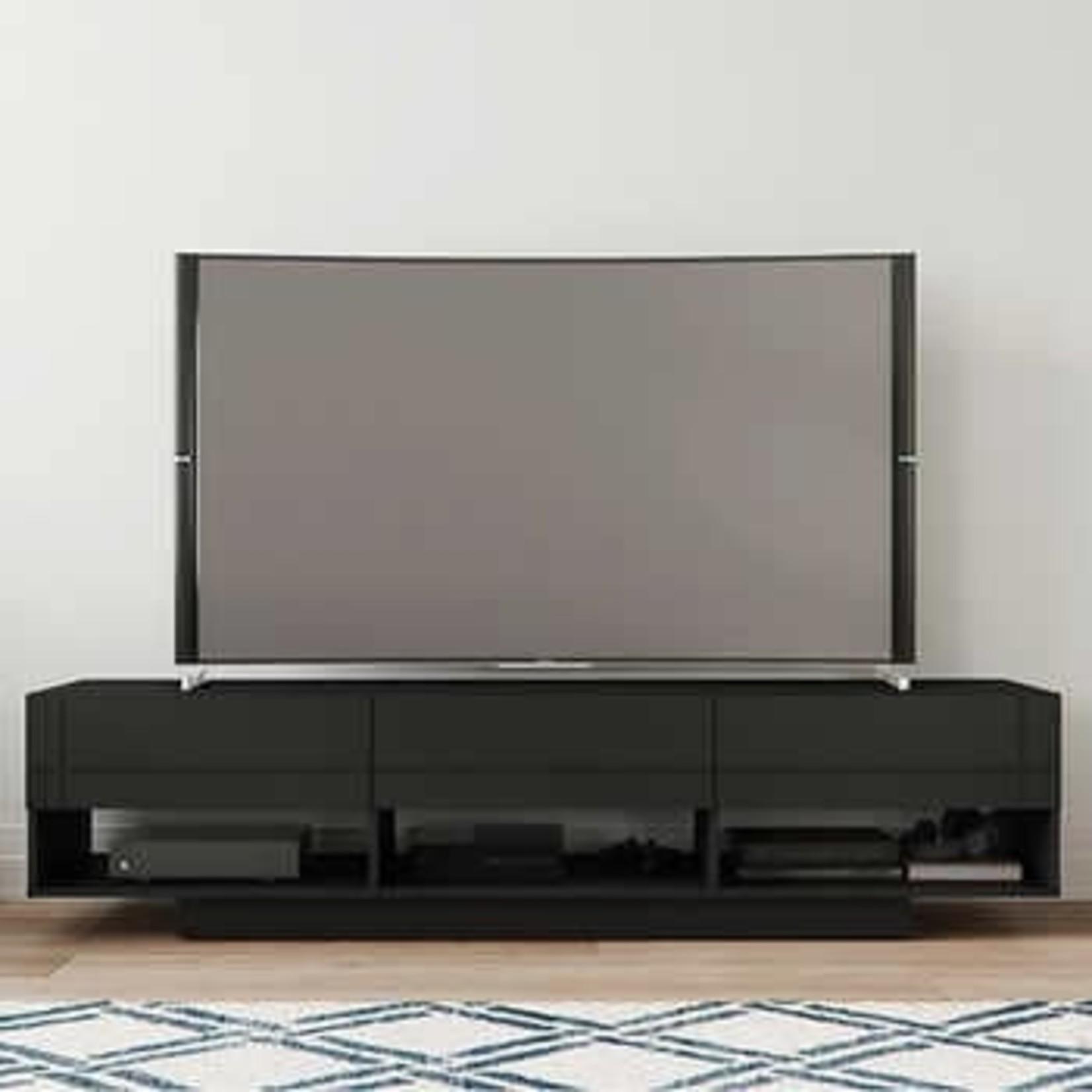 """Nexara 72""""3 Drawer TV Stand -Black"""