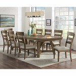 Craft and Main 9 Piece Dining Set with Leaf *Open box, some scuffing on table and legs