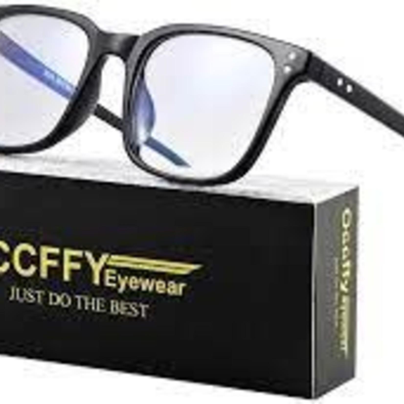 Occffy Blue Light Blocking Glasses Transparent Lens Anti Glare Filter UV Computer Gaming Glasses For Men Women 5025