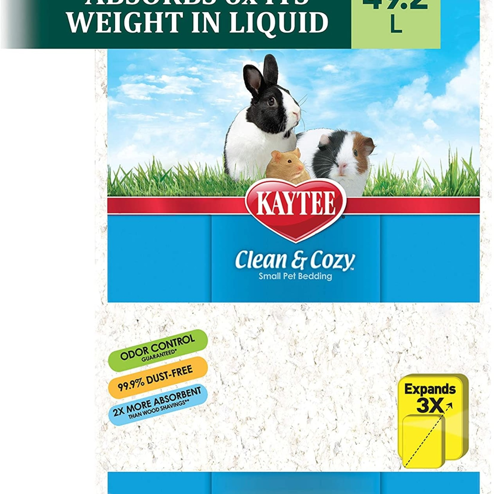 Kaytee Clean & Cozy White Small Animal Bedding, 49.2 L