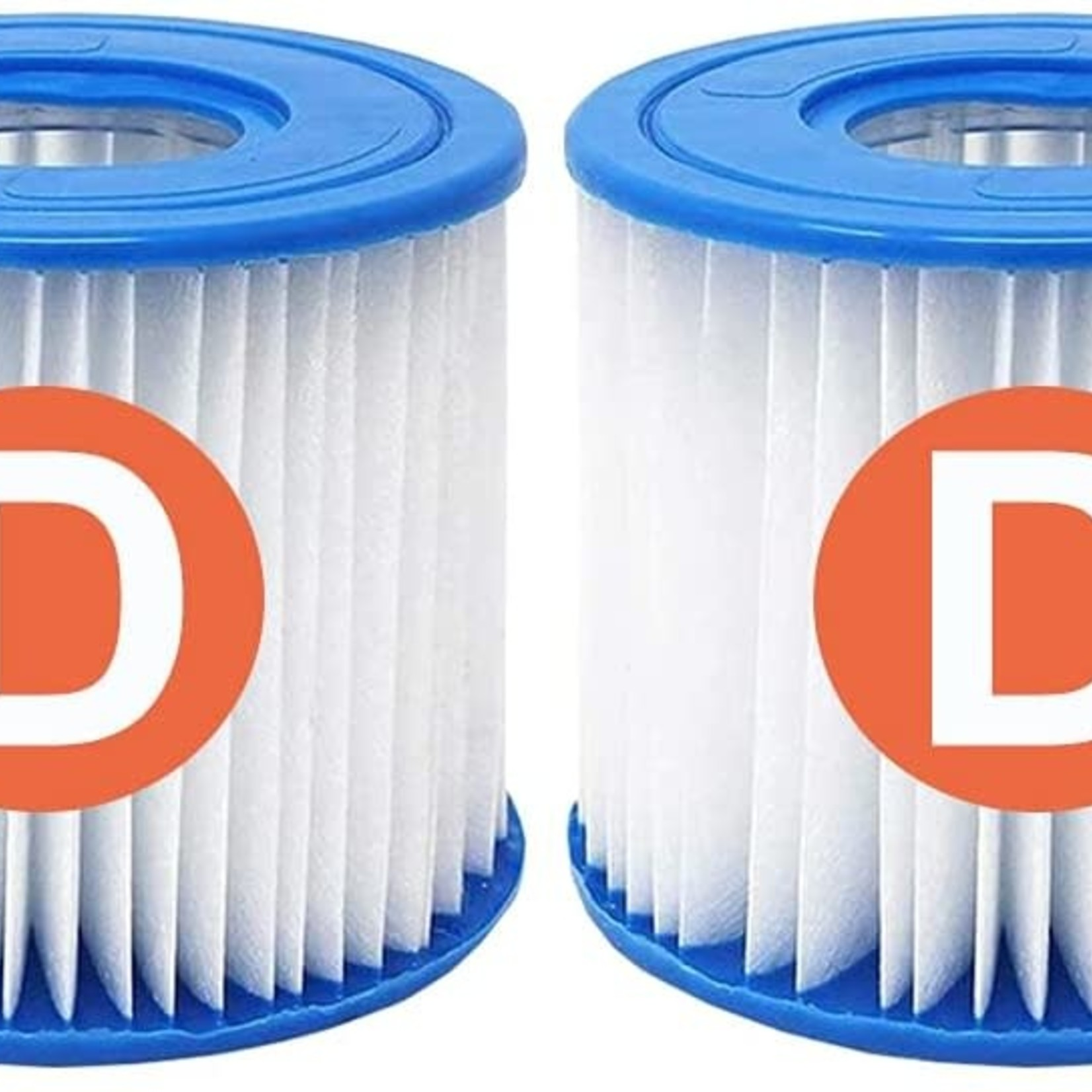 2 Pack Type D Pool Filter for Summer Waves Intex Swimming Pool Pump