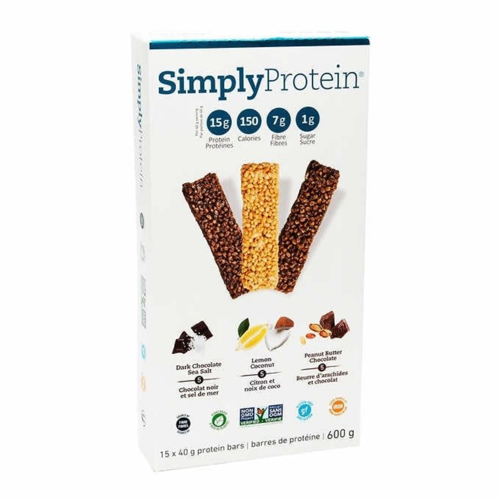 Simply Protein bars -Variety 15 Pack