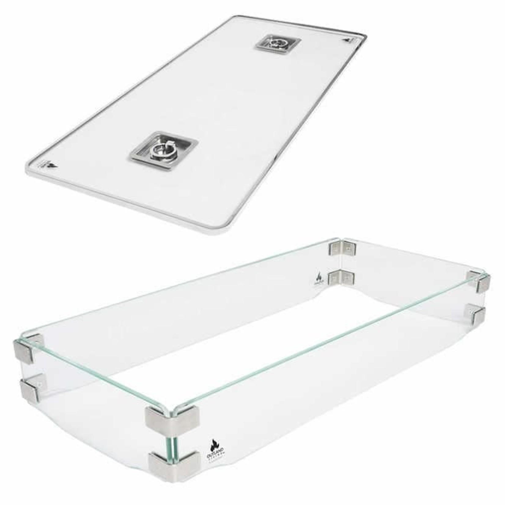 Outland Living Fire Table Accessory Set (Glass Windbreak and Glass Lid)