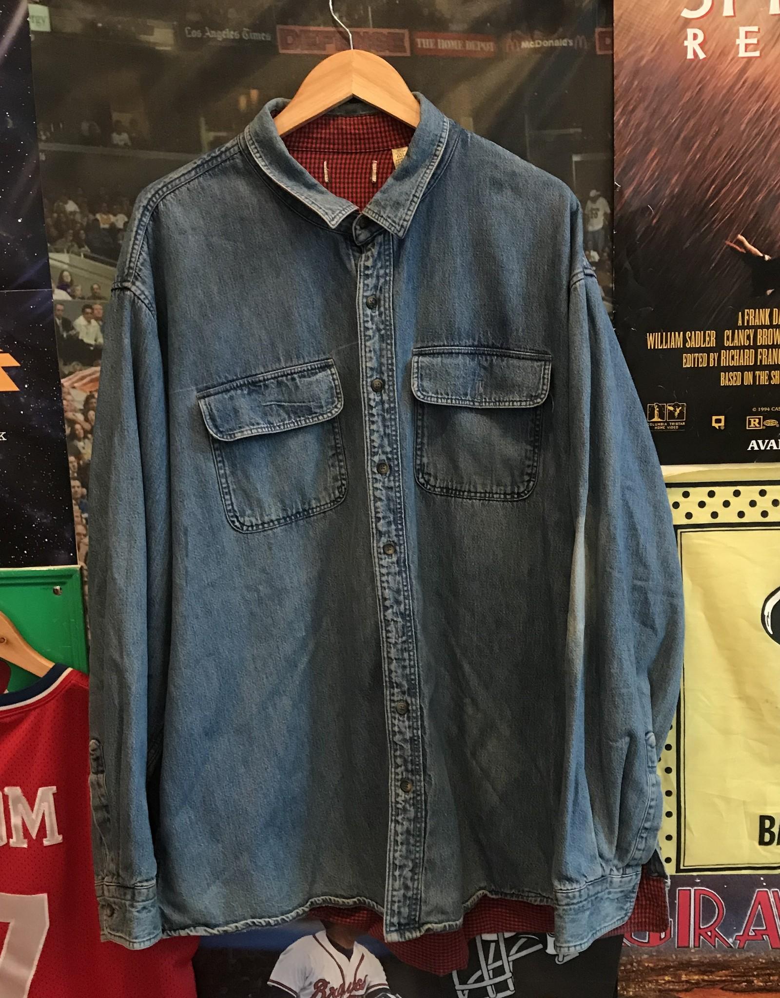 956 denim flannel sz 2XL