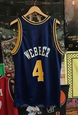 927 champion warriors chris webber jersey sz 44