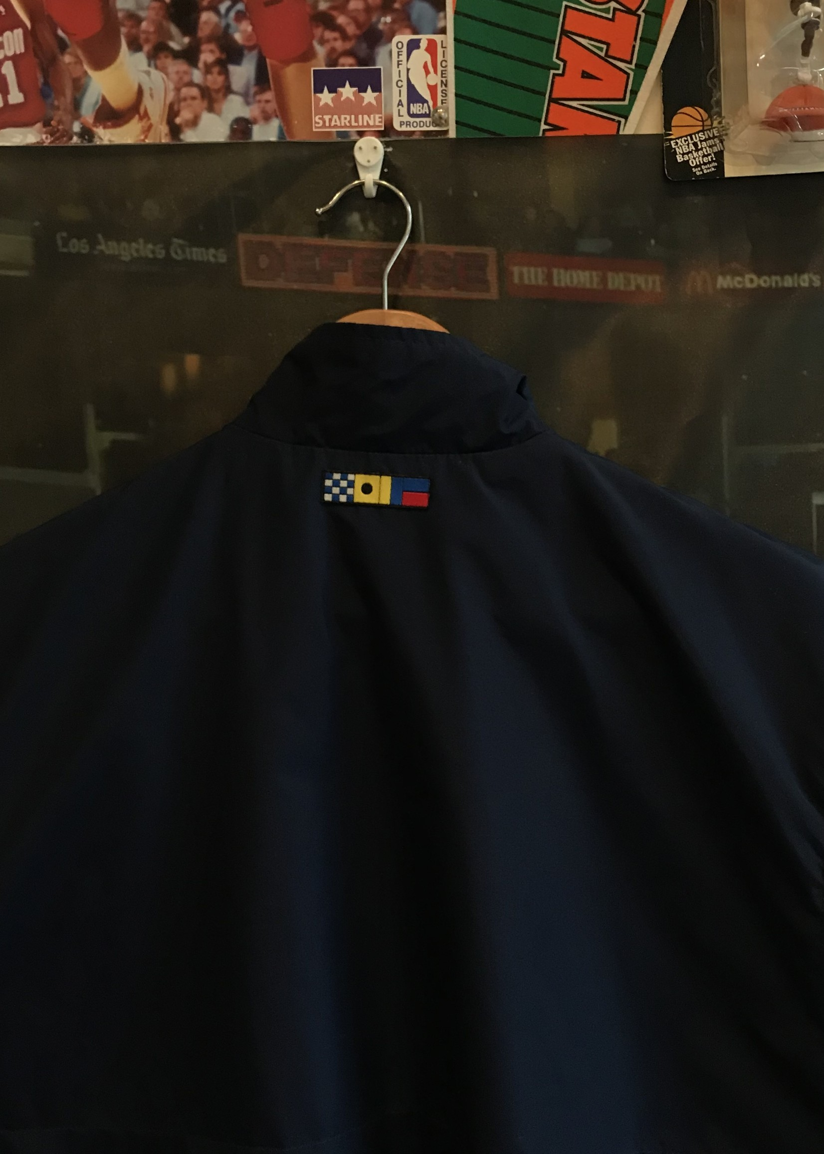 1688 nike gray tag vest navy/green sz XL