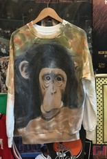 2170handpainted monkey crewneck sz. M