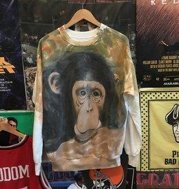 Handpainted Monkey Crewneck sz M