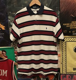 Polo Striped Button Up sz M