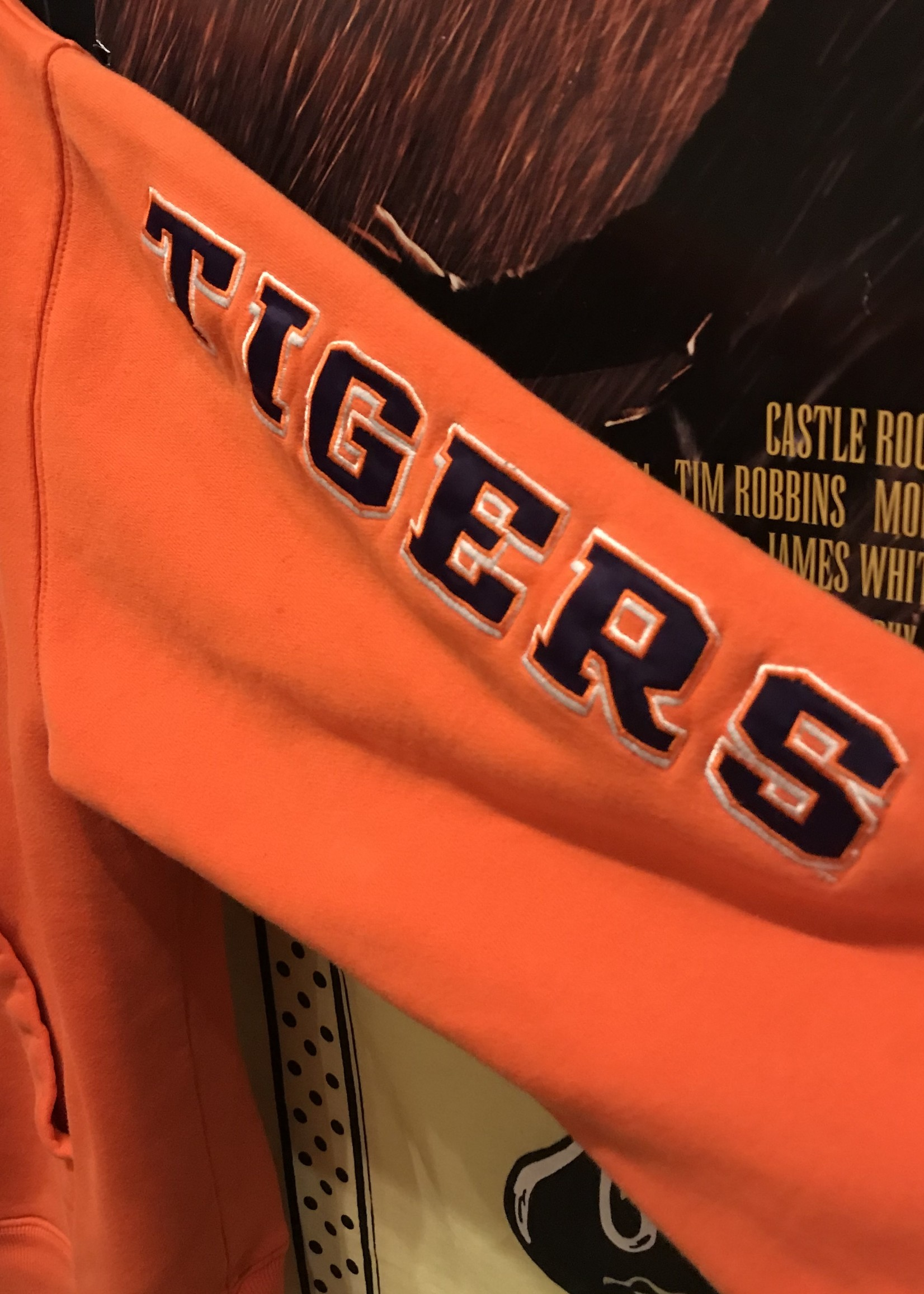 2410champion clemson hoodie orange sz L