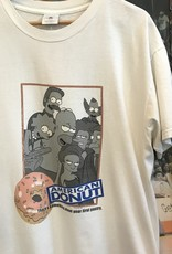 31412001 simpsons american donut tee white sz L