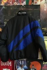 3299columbia puffer black/blue/yellow sz M