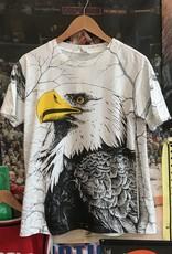 3315all over eagle tee white sz M