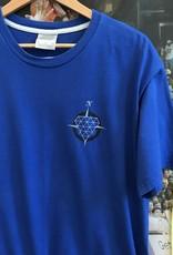 3457nike diamonds tee blue sz XL