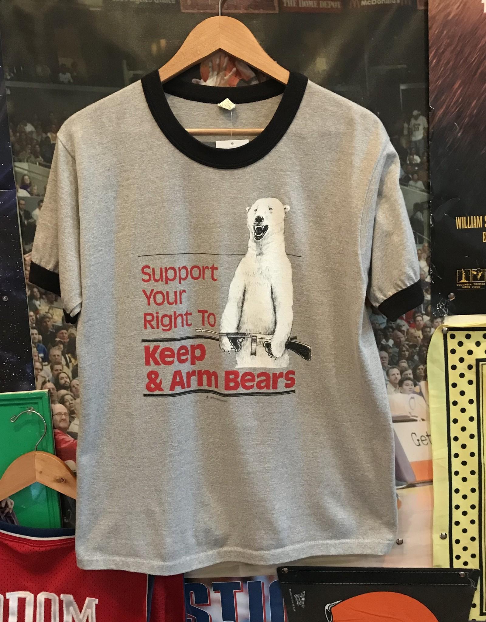34901984 bear arms ringer tee ash sz L