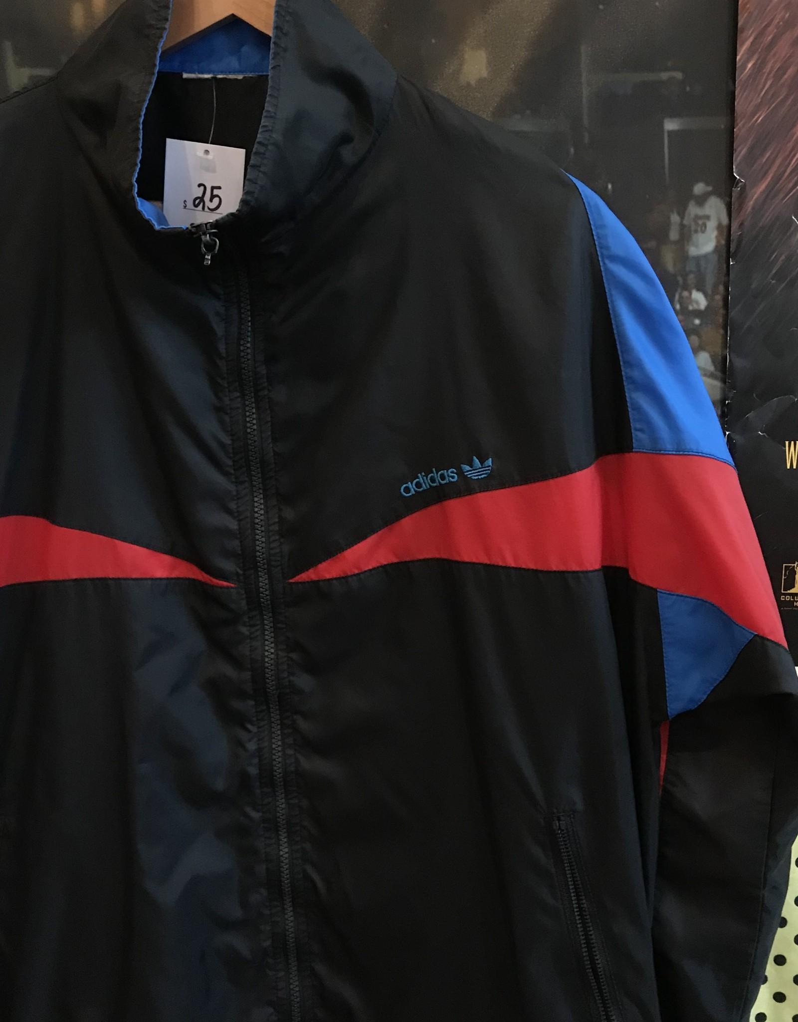 3482adidas windbreaker black/red/blue sz L/XL