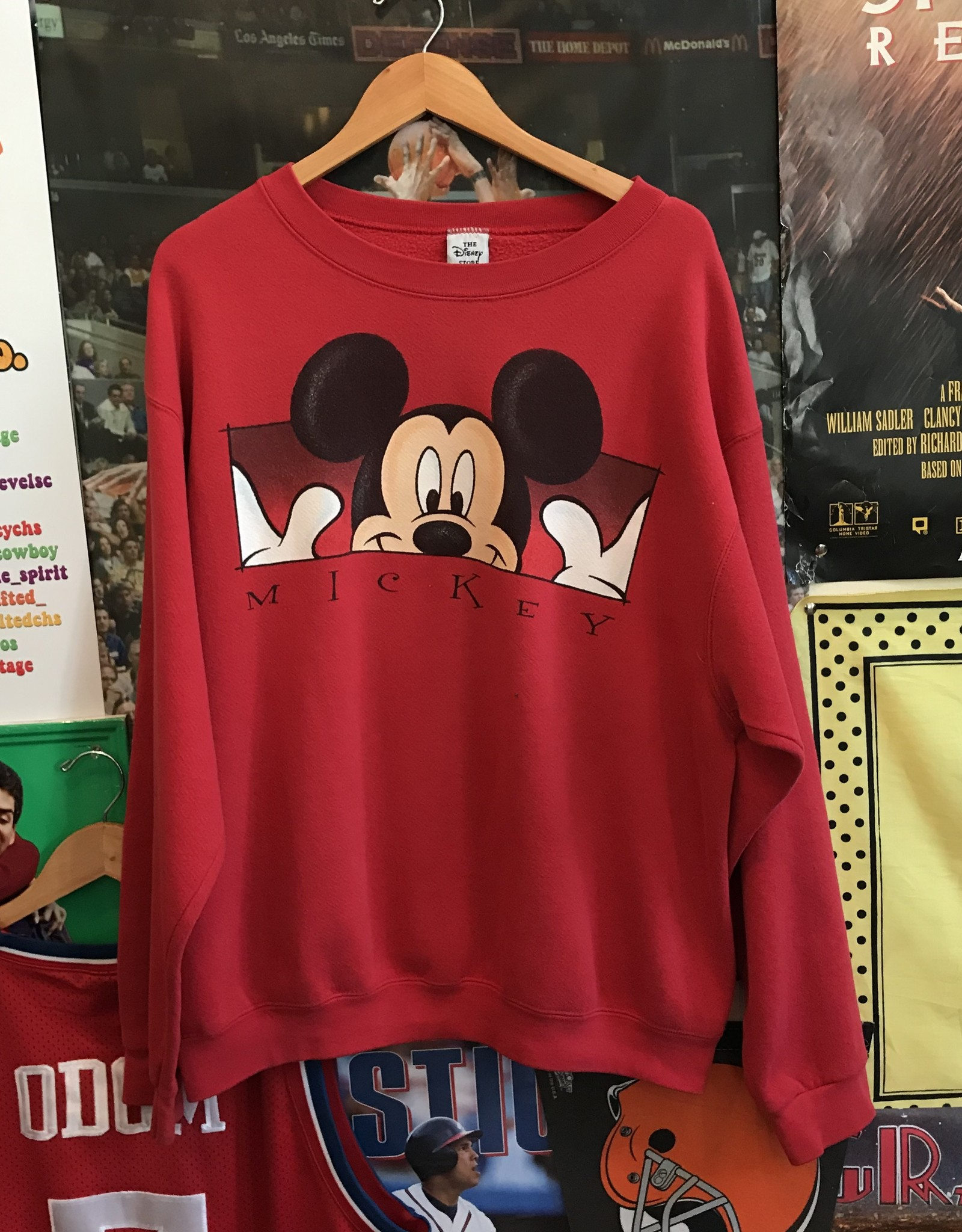 3569mickey mouse red crewneck sz. XL