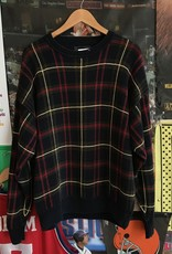 3741saddlebred plaid sweater navy sz XL