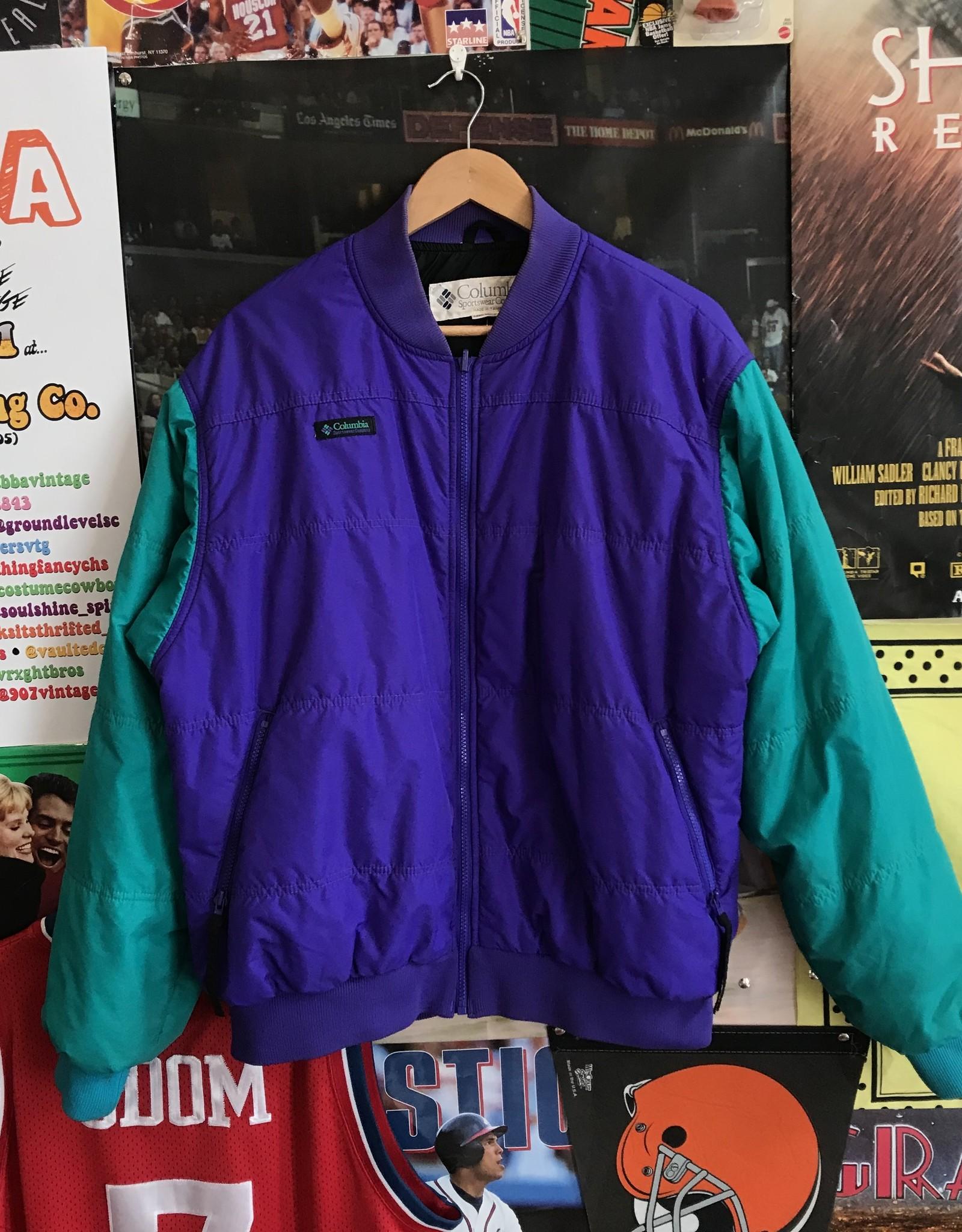 3742columbia jacket purple/teal sz L