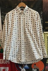 3808tommy hilfiger flags polo white sz S/M