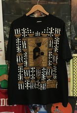3946all over print african tee gold print  sz. XL
