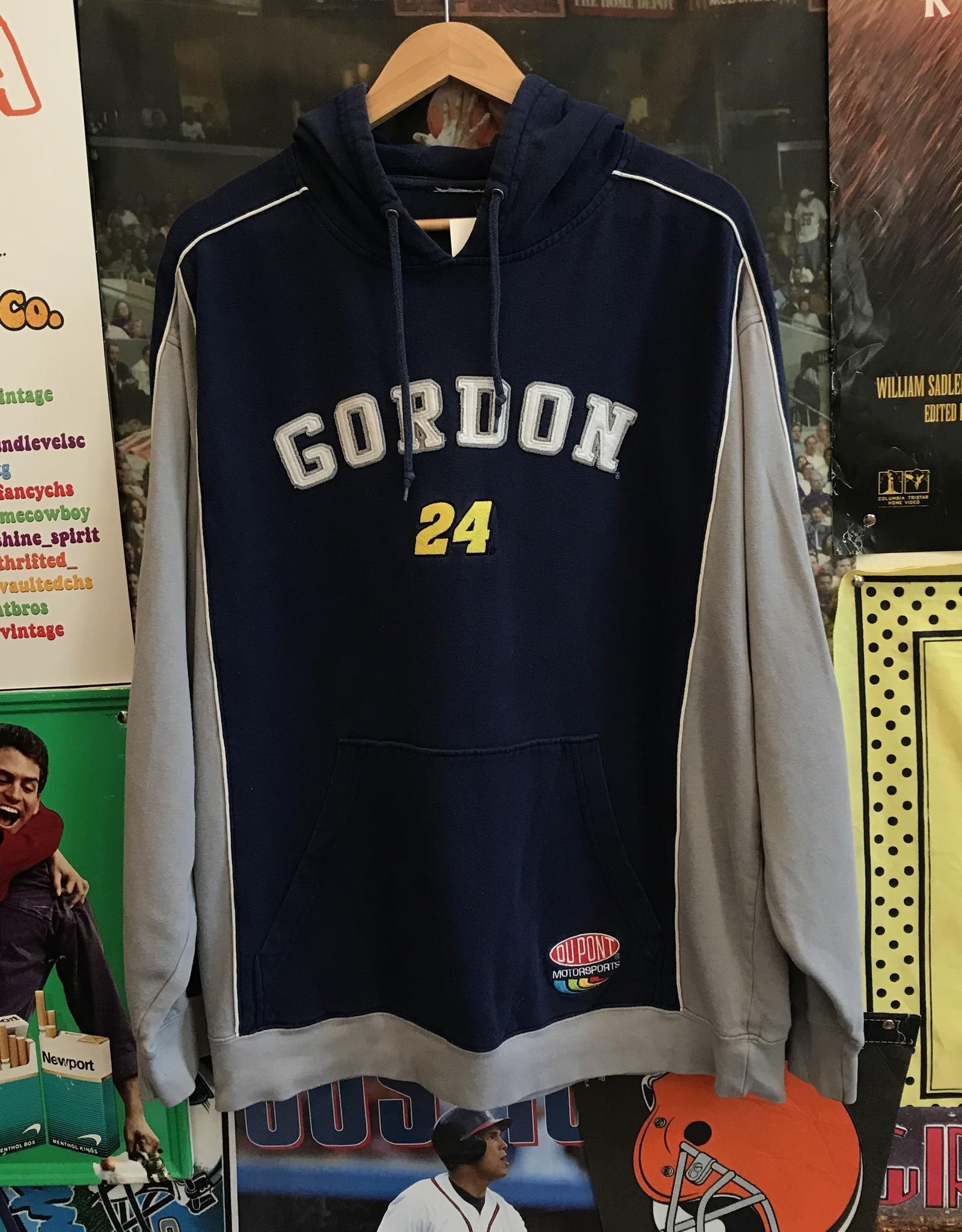 4004jeff gordon hoodie navy/gray sz L