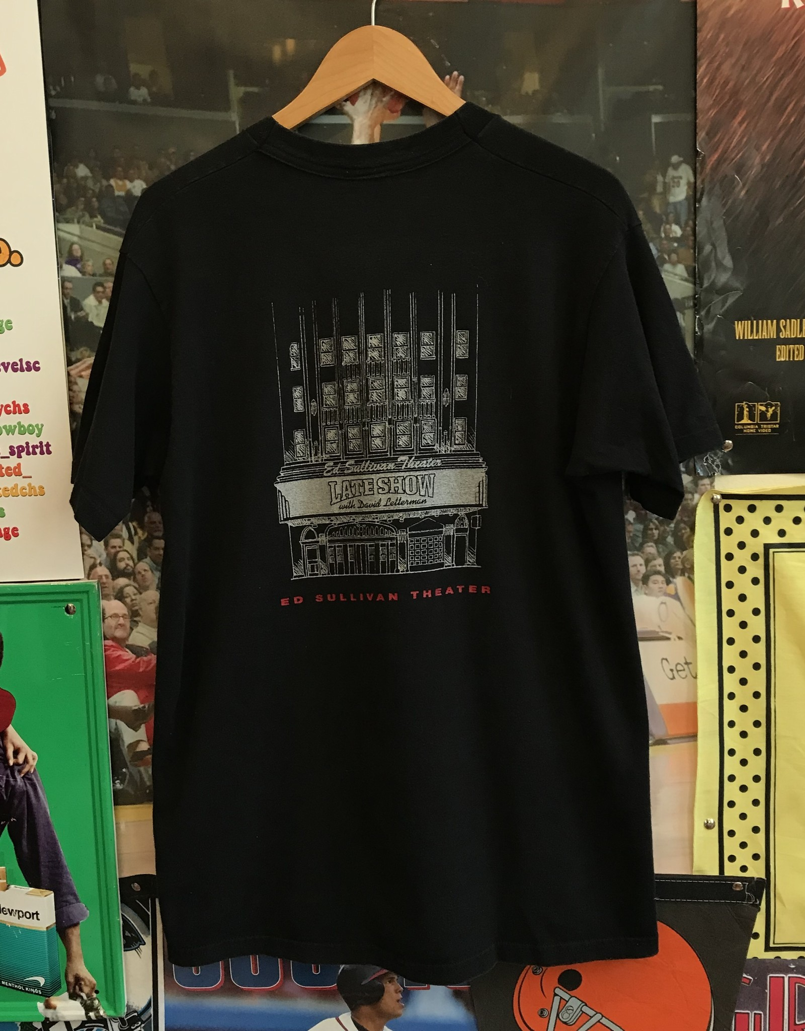 3996ted sullivan theater tee black sz L