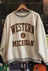 4093western michigan crewneck white/gray sz XL