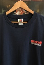 4134embroidered maxell tee navy sz XL