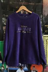 4197baltimore ravens fleece crewneck purple sz XL