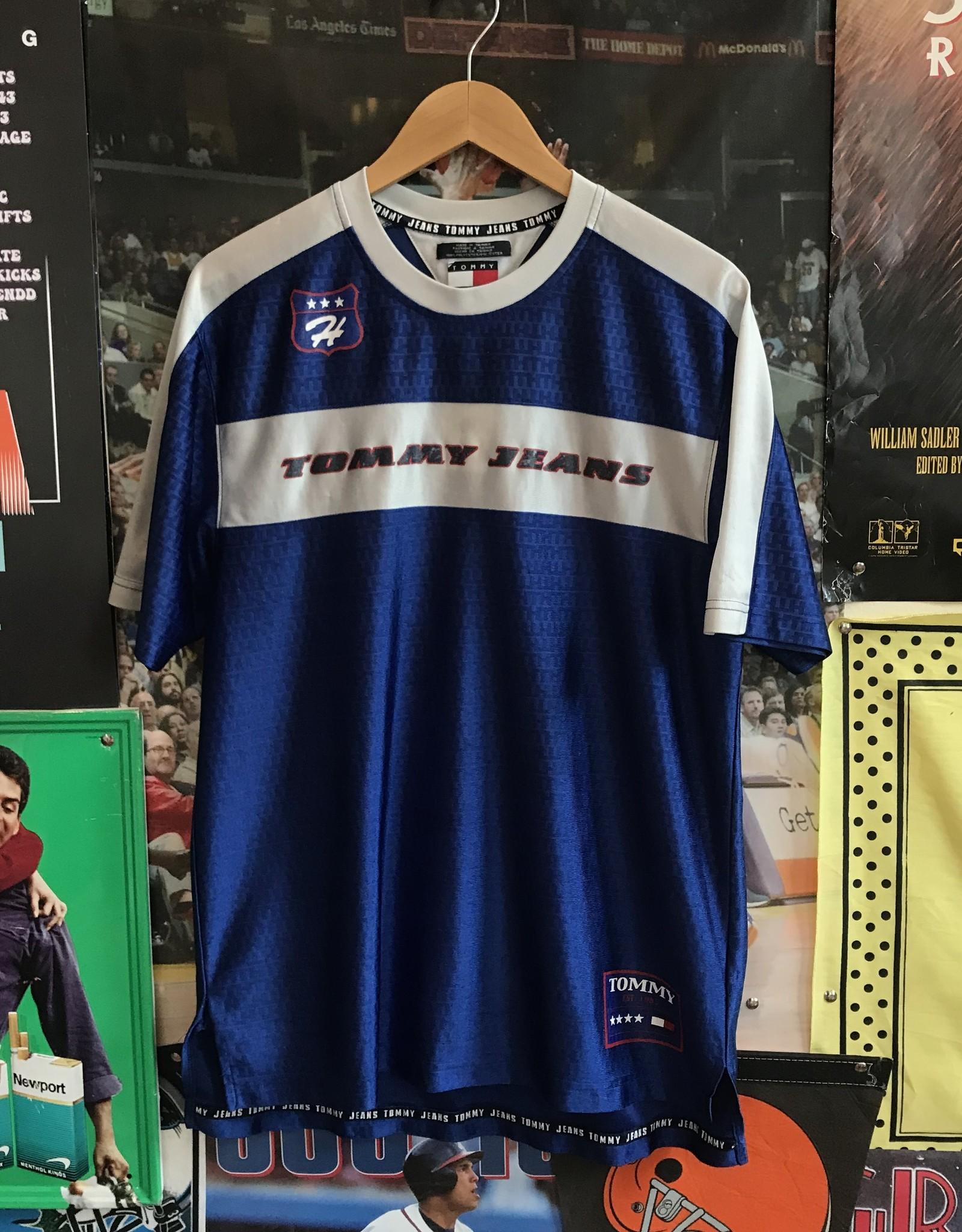 4190tommy jeans soccer kit blue sz L