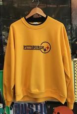 4267steelers yellow crewneck sz. XL