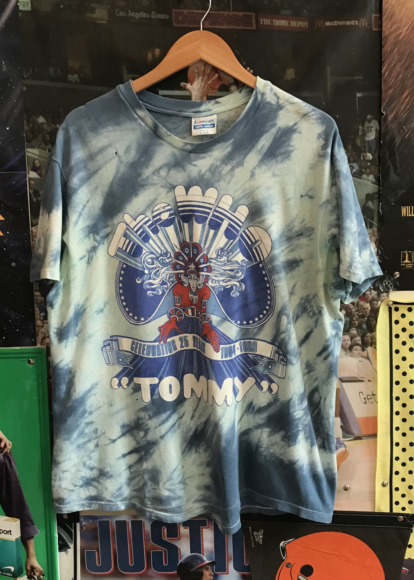 43861989 the who tommy tie dye tee blue sz XL