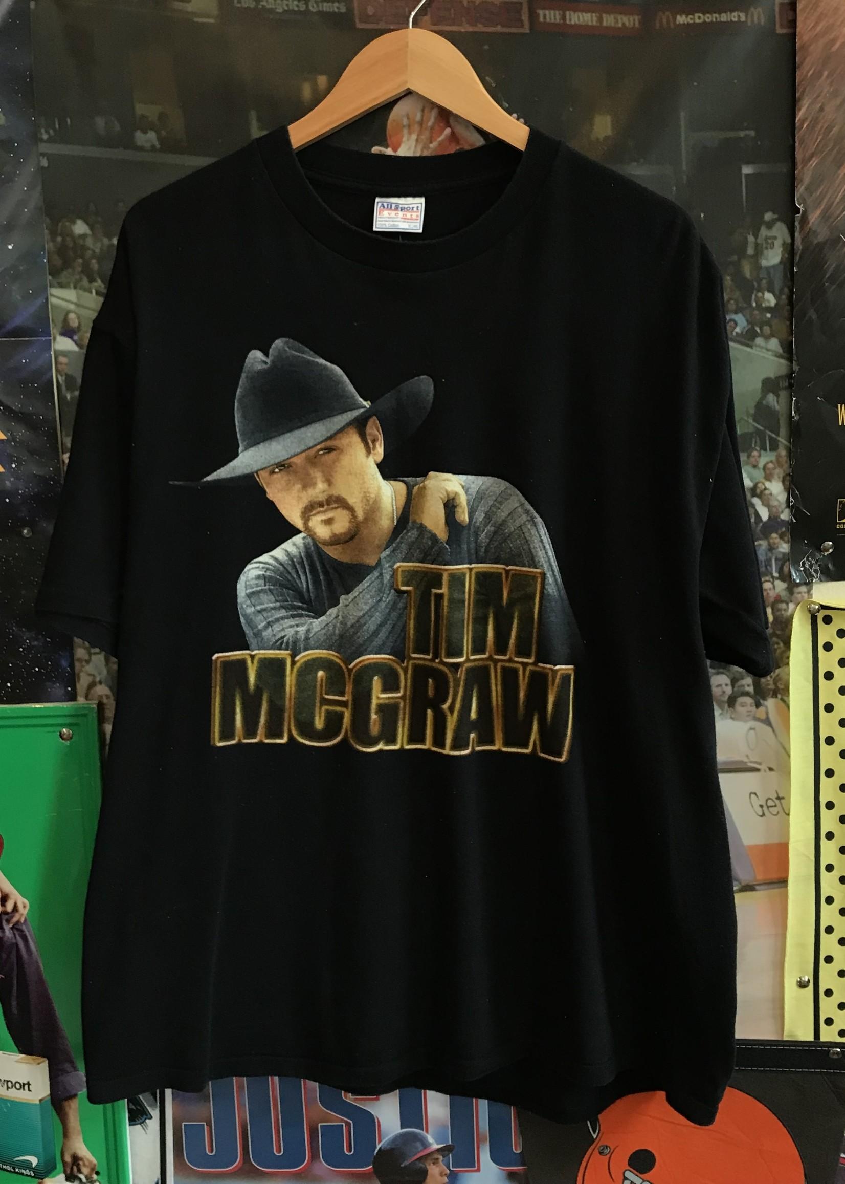 45782000 tim mcgraw tee black sz XL