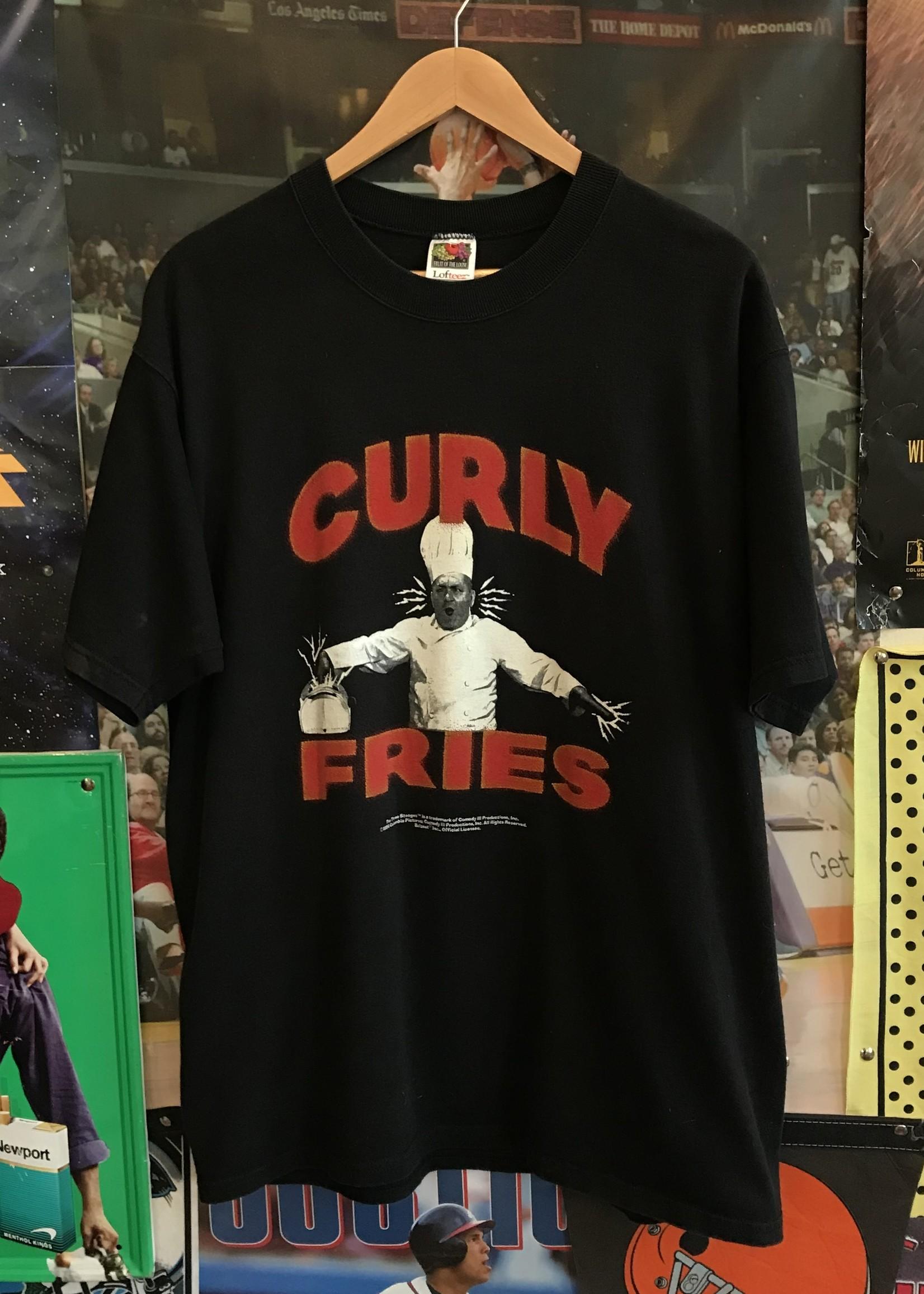 46331996 curly fries tee black sz L