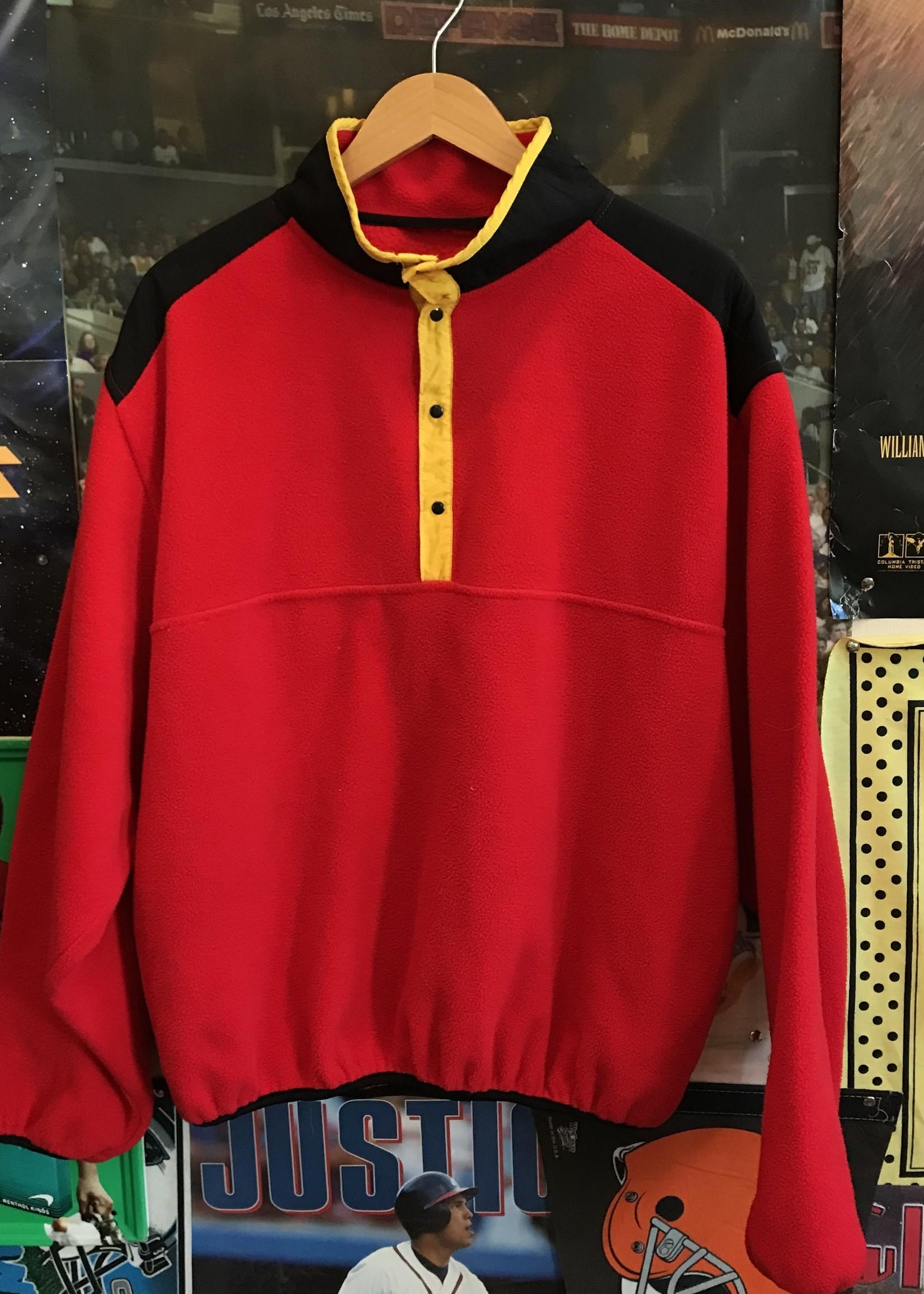 4689red button up fleece sz. XL