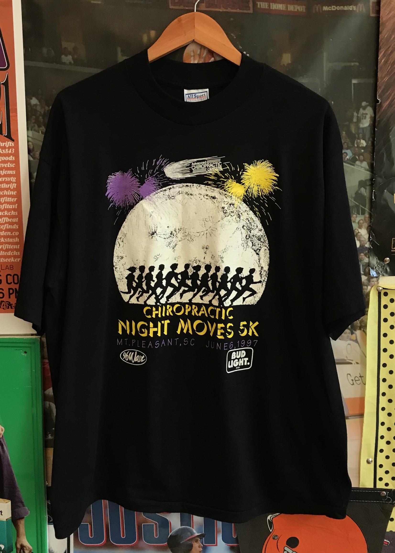 4739chiropractic night moves tee sz. XL