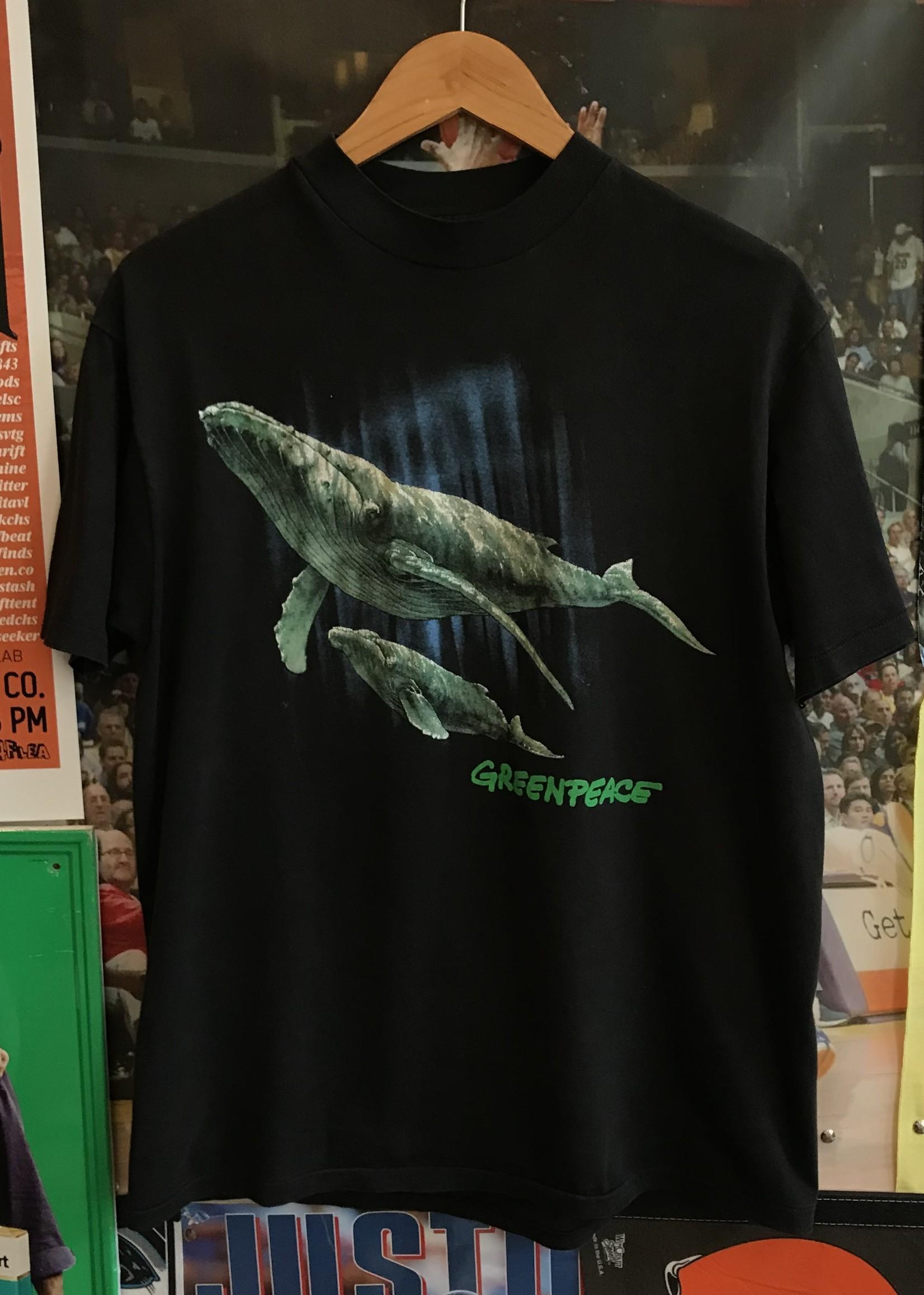 4742greenpeace whale tee sz. L