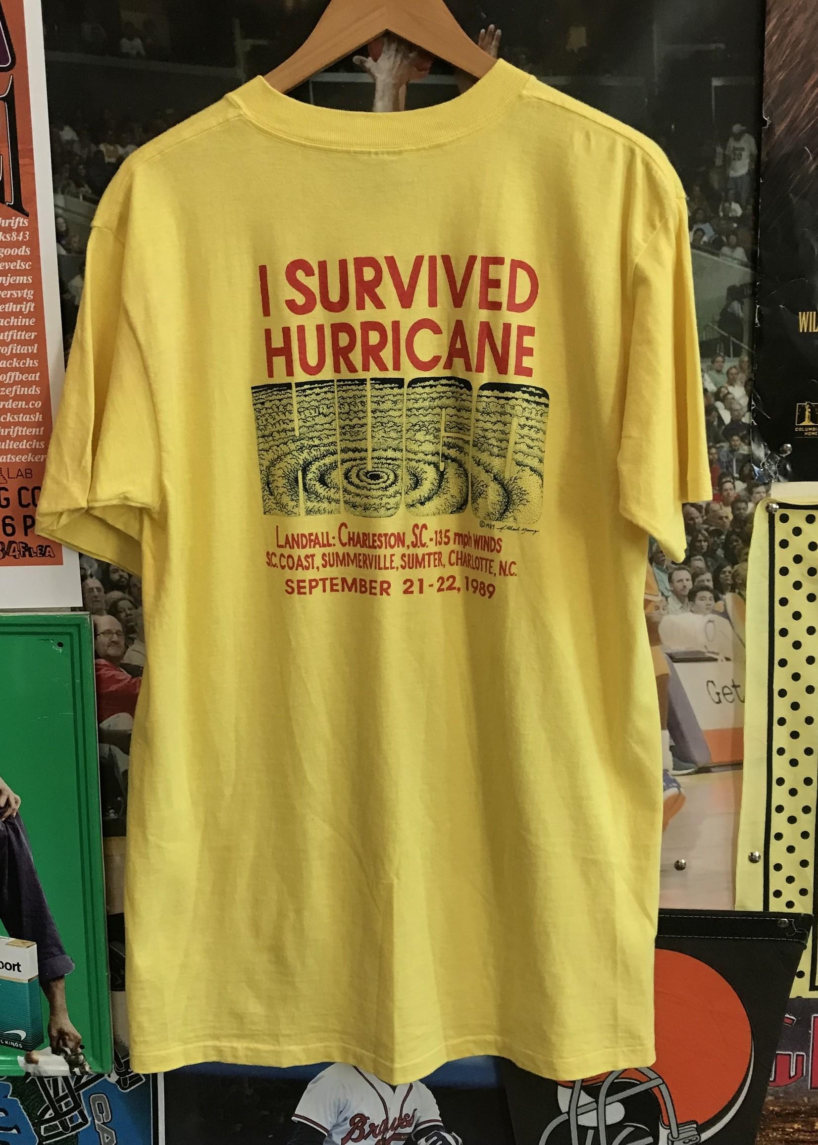 47641989 i survived hurricane hugo tee yellow sz XL