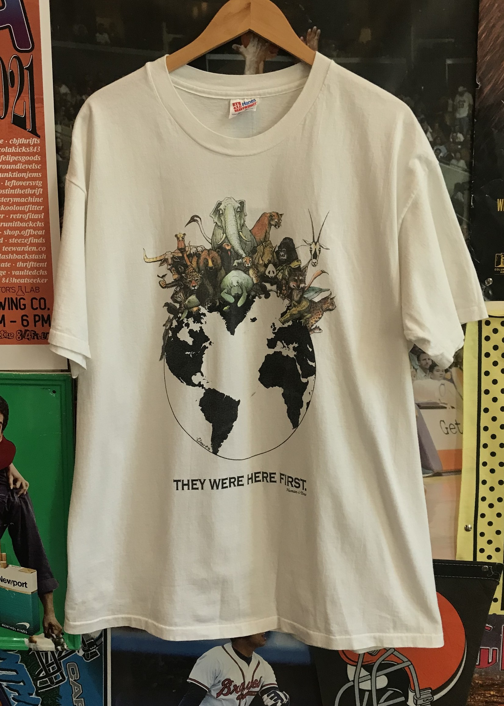 47841992 they were here first tee white sz XL