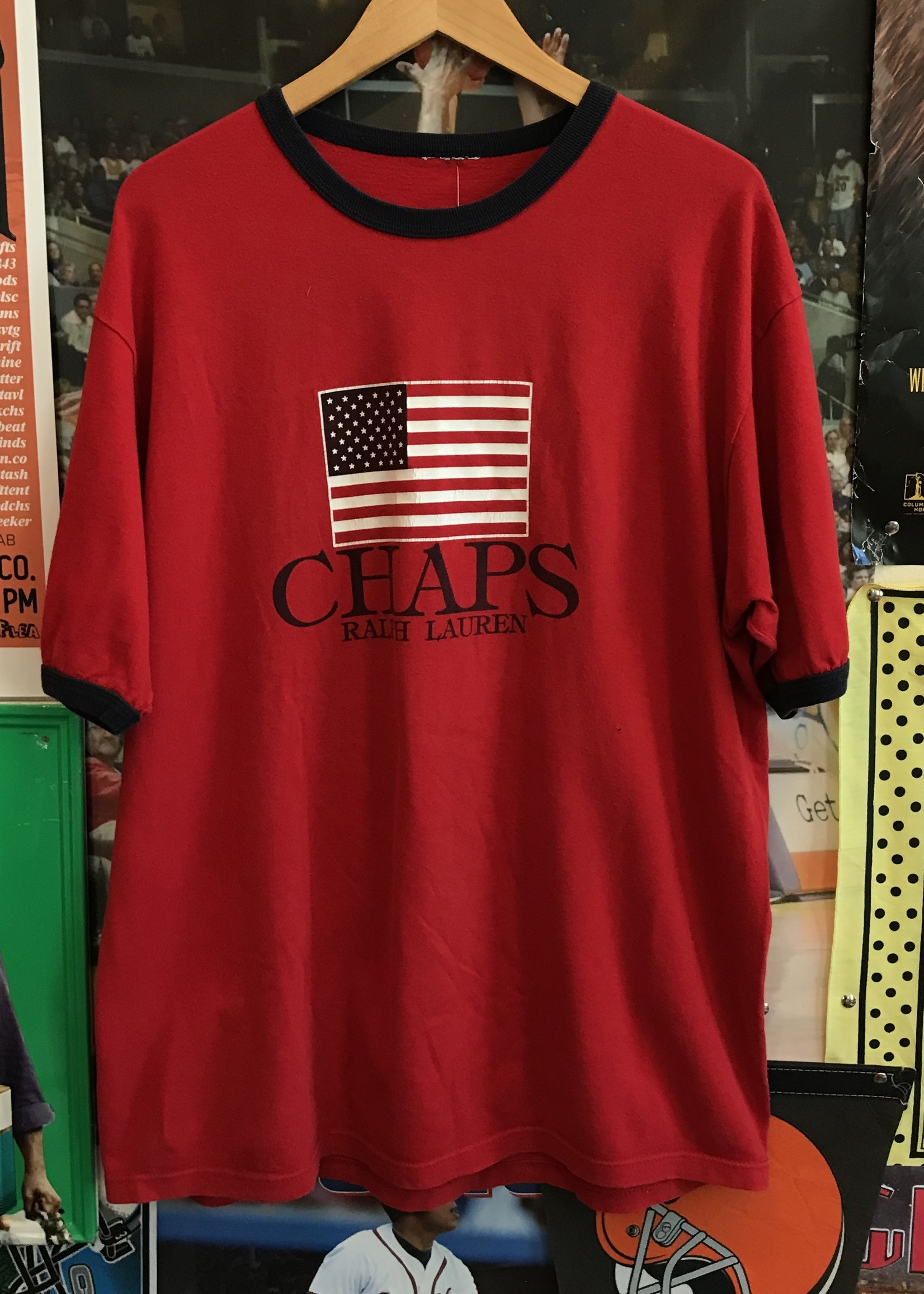 4978chaps ringer tee red/navy sz XL