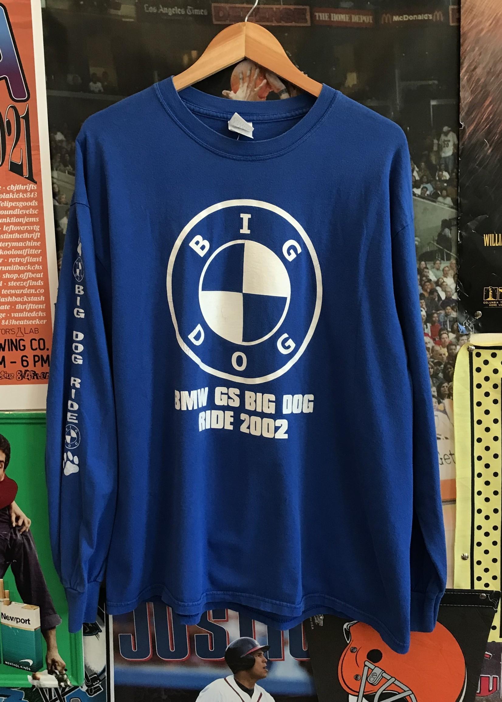 49812002 big dog bmw longsleeve blue sz XL